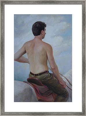 Self-portrait On Horseback Framed Print