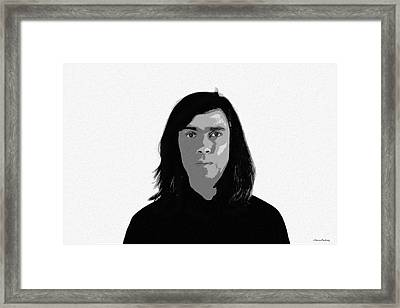Self Portrait Framed Print by Ramon Martinez