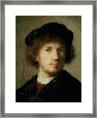 Self Portrait Framed Print by Rembrandt Harmenszoon van Rijn