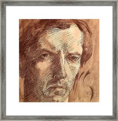 Self Portrait Framed Print by Umberto Boccioni
