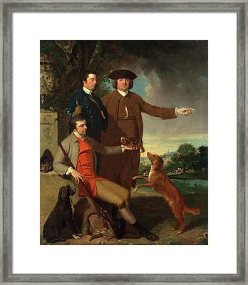Self-portrait With His Father And His Brother The Artist Framed Print by Litz Collection