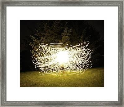Self Portrait Within Light Swirls 2012 Framed Print by Joseph Duba