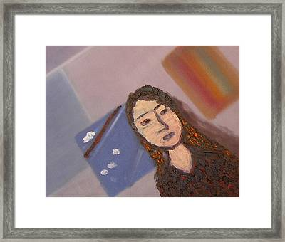 Self-portrait2 Framed Print by Min Zou