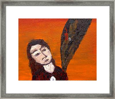 Self-portrait5 Framed Print by Min Zou