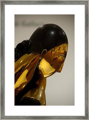 Self-portraits In Brancusi Framed Print