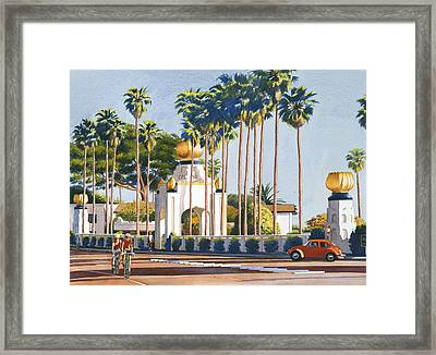 Self Realization Fellowship Encinitas Framed Print by Mary Helmreich