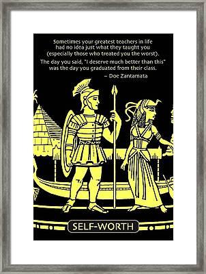 Self Worth Framed Print by Mike Flynn