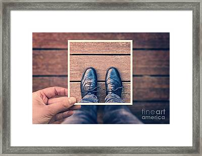 Selfie Framed Print by Delphimages Photo Creations