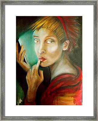 Framed Print featuring the painting Selfie by Irena Mohr