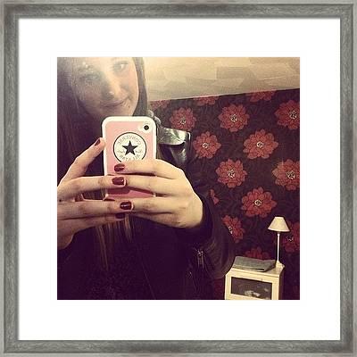 Selfie #room #home #yay #converse Framed Print
