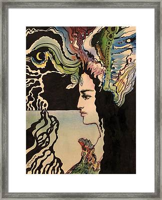 Framed Print featuring the painting Selfportrait by Valentina Plishchina