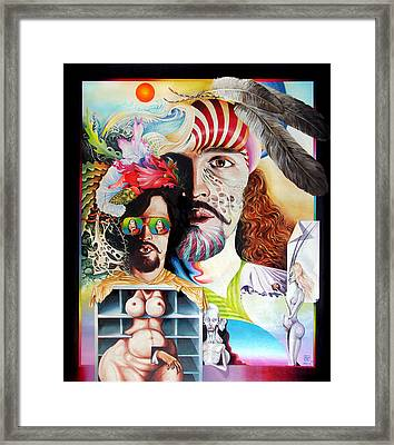 Selfportrait With The Critical Eye Framed Print