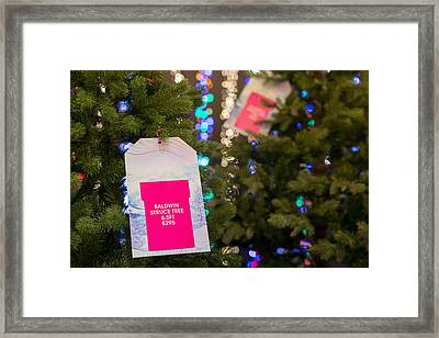 a4849bff381b Selfridges Plc Opens Its Christmas Retail Store Framed Print by Bloomberg