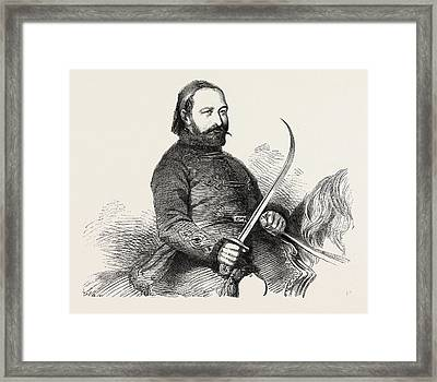 Selim Pacha Muschir Commander-in-chief Of The Turkish Army Framed Print by English School
