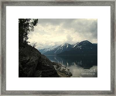 Selkirks In The Spring Framed Print