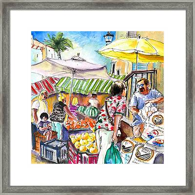 Selling Jersey Potatoes In Turre Framed Print by Miki De Goodaboom