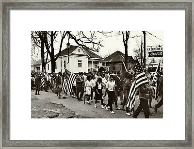 Selma To Montgomery Framed Print