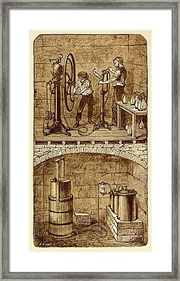 Selzer Water Manufactuary Framed Print by David Parker