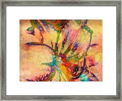 Springtime Floral Abstract Framed Print