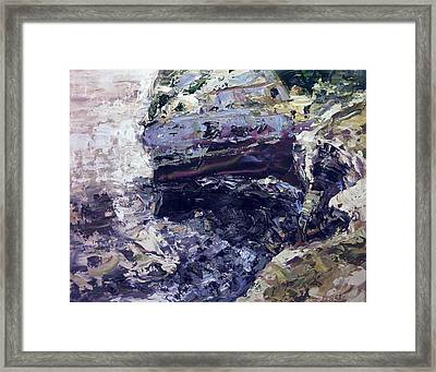 Semi-abstract Seascape Framed Print by Brian Simons