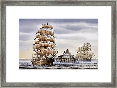 Semi-ah-moo Lighthouse Framed Print by James Williamson