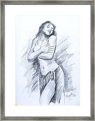 Semi Nude Framed Print