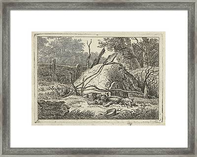 Semicircular Oven In A Wooded Landscape, By The Side Framed Print by Artokoloro