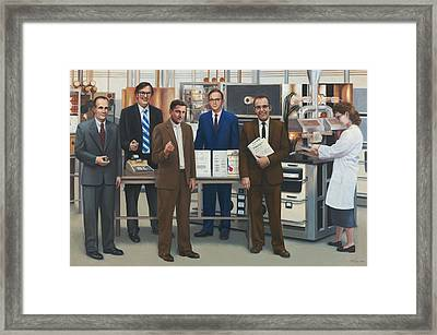 Semiconductor Pioneers Of Silicon Valley Framed Print by Terry Guyer