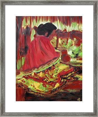 Seminole Indian At Work Framed Print
