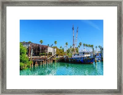 Seminole Trader Shrimp Fishing Boat Framed Print