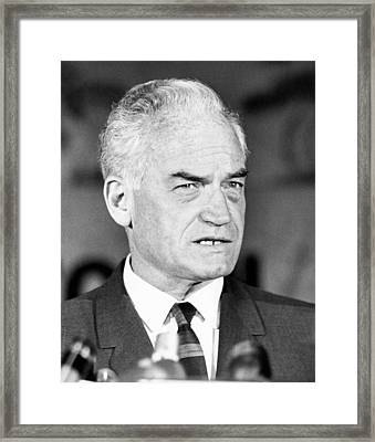 Senator Barry Goldwater Framed Print by Underwood Archives