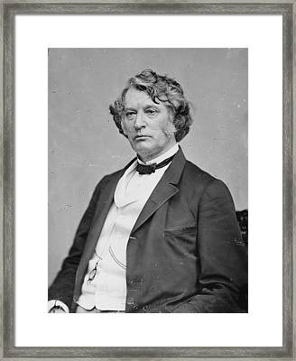 Senator Charles Sumner By Matthew Brady Framed Print by Everett