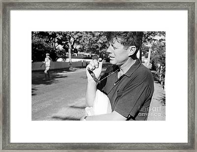 Senator John F. Kennedy And Jacqueline 1959 Framed Print by The Harrington Collection
