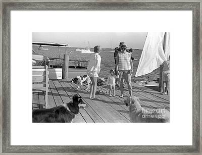 Senator John F. Kennedy And Jacqueline At The Marina Framed Print by The Harrington Collection