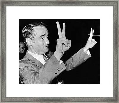 Senator Thomas Eagleton Framed Print by Underwood Archives