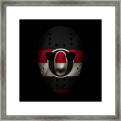 Senators Jersey Mask Framed Print by Joe Hamilton