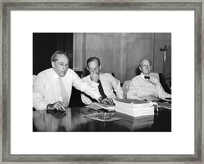 Senators Shed Decorum Framed Print by Underwood Archives