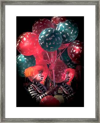 Send In The Clowns Framed Print by Karen Wiles
