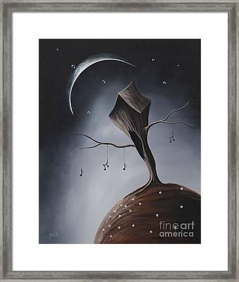 Send Me Your Love While I Sleep By Shawna Erback Framed Print by Shawna Erback