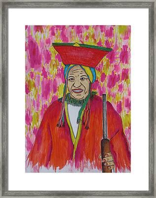 Senderista Grillz Framed Print by Charles  Daley