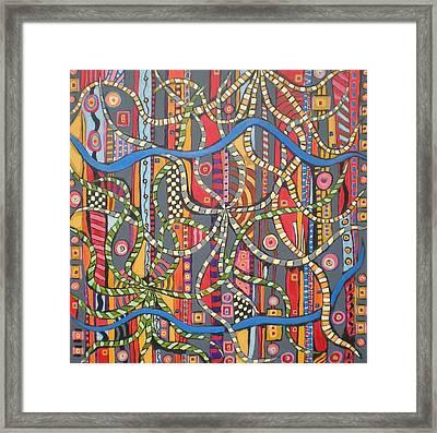 Senderos # 7 Framed Print