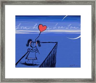 Sending Love Framed Print