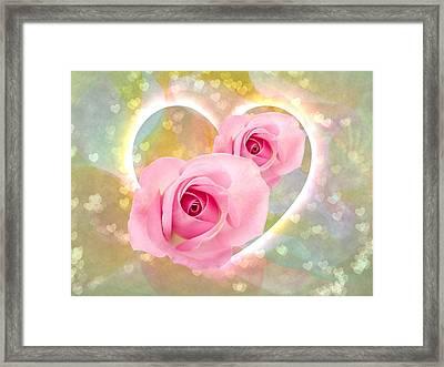 Sending Love Framed Print by Shirley Sirois