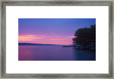 Seneca Lake Glows Framed Print