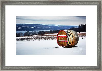 Seneca Lake Winery In Winter Framed Print