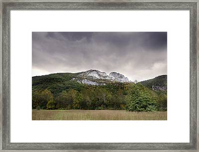 Seneca Rocks Framed Print
