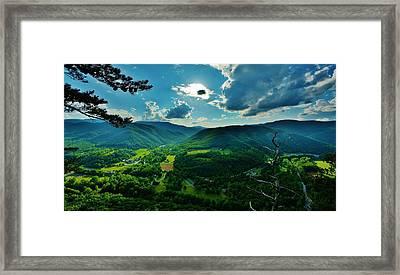 Seneca Rocks Overlook  Framed Print