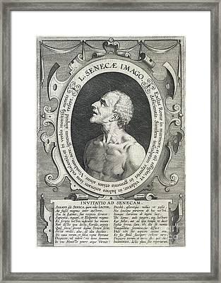 Seneca, Roman Philosopher Framed Print by British Library