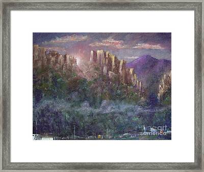 Seneca Sunrise Framed Print by Bruce Schrader