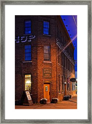 Seneca Winery Framed Print by Frozen in Time Fine Art Photography